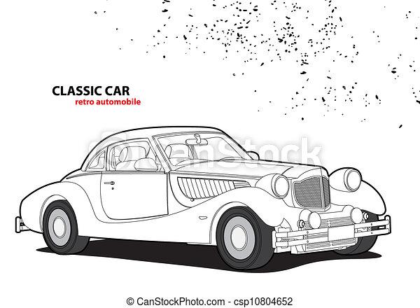 auto, classieke - csp10804652