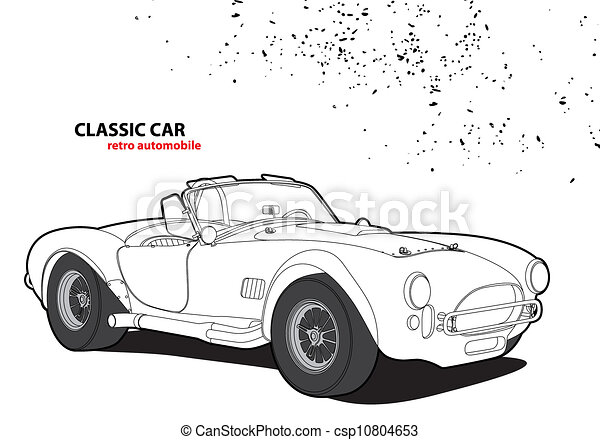 auto, classieke - csp10804653