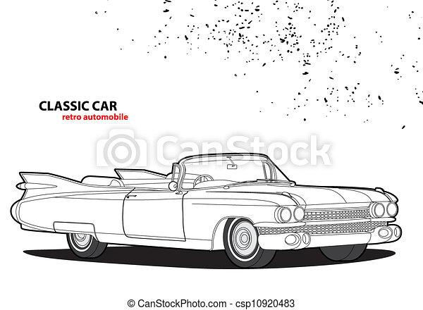 auto, classieke - csp10920483