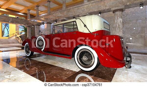 auto, classieke - csp37104761