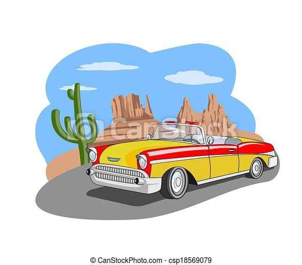auto, classieke - csp18569079