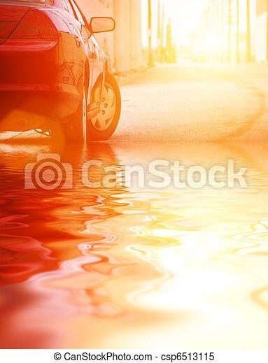 auto, closeup, wasser - csp6513115