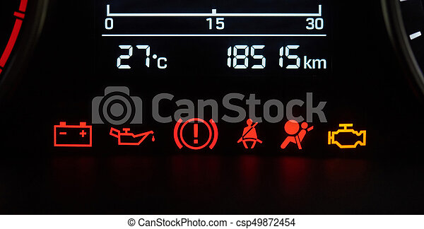 Comps Canstockphoto Be Auto Dashboard Iconen Stock