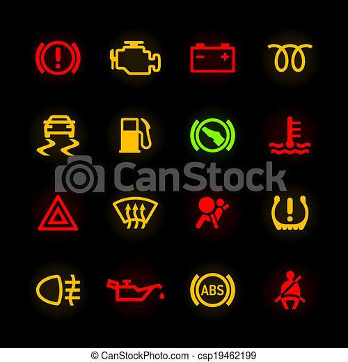 Auto Dashboard Iconen