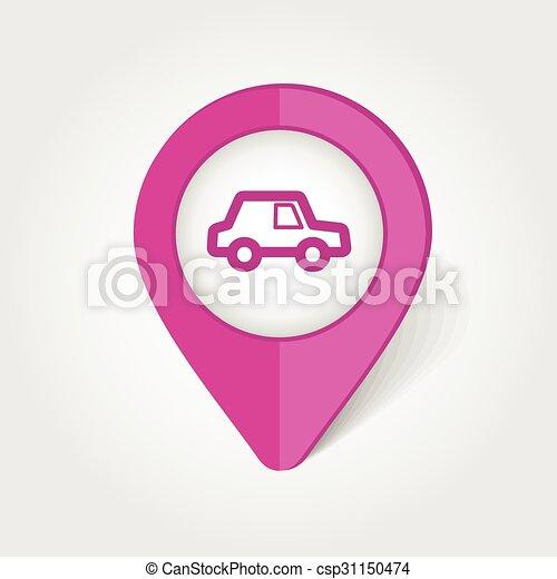 Auto, diagramm- stift, ikone. Diagramm- stift, 10, auto, eps ...