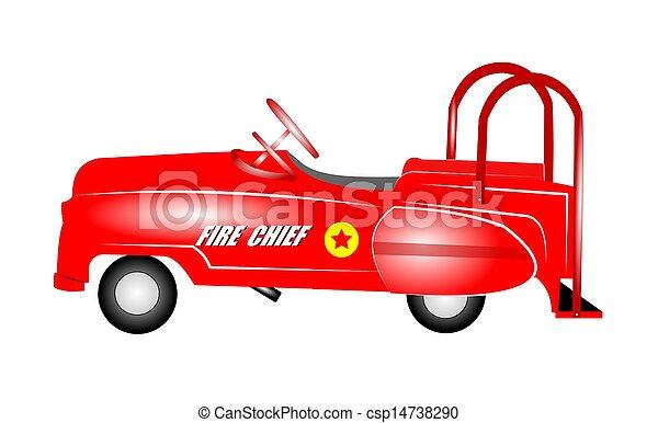 auto, geitjes, pedaal - csp14738290