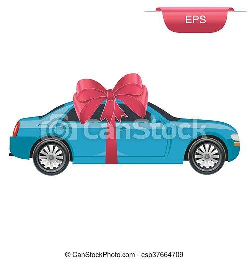 Auto, graphischer entwurf, überraschung, geschenk. Wohnung, stil ...
