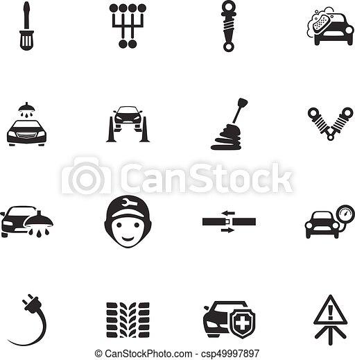 Auto icons set - csp49997897