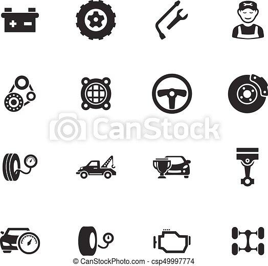 Auto icons set - csp49997774