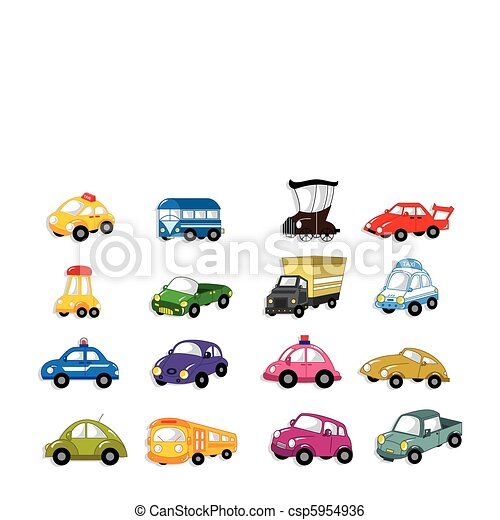 auto, karikatur - csp5954936