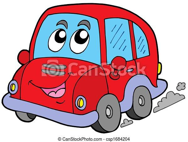 auto, karikatur - csp1684204