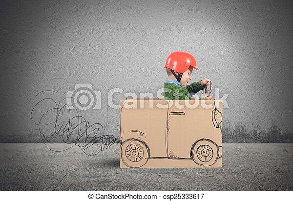 auto, karton - csp25333617