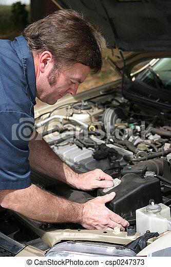 Auto Mechanic Working - csp0247373