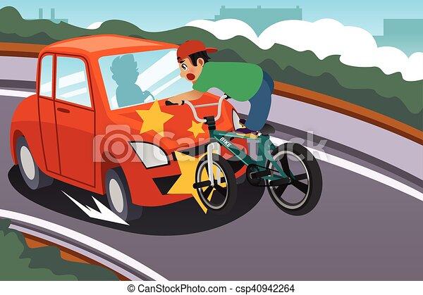 Auto Ongeluk Fiets Geitje Paardrijden Ongeluk Fiets