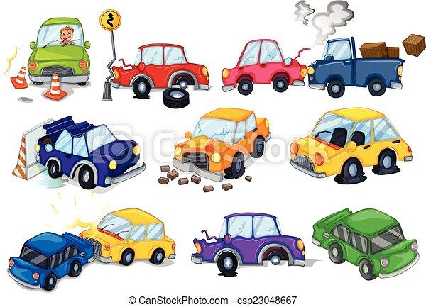 auto, ongevallen - csp23048667