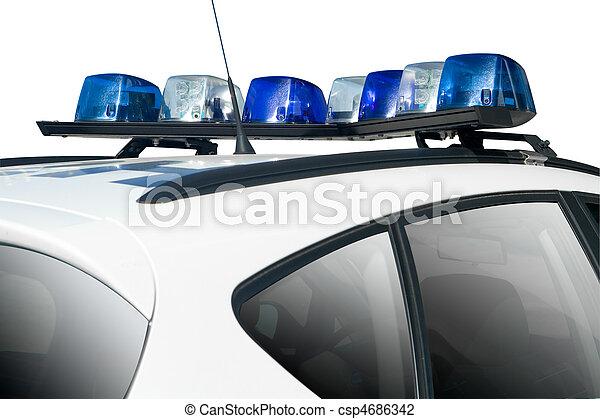 auto, politie - csp4686342