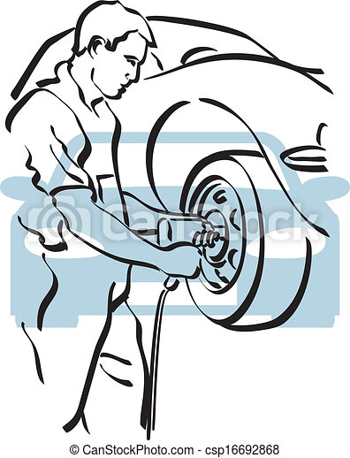 auto repair illustration of a repairer to work clip art vector rh canstockphoto com auto repair clip art mechanic free auto repair clipart images