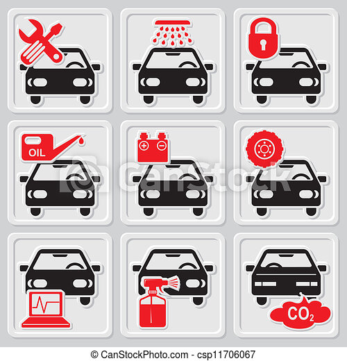 auto repair icons set vector icons of auto repair and service