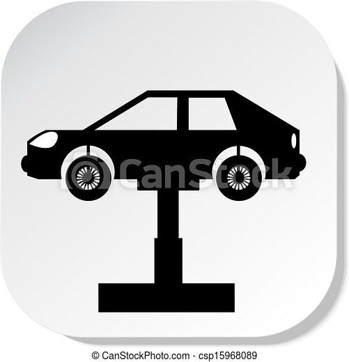 Auto repair shop sign. vector illustration. eps 10 vector ...