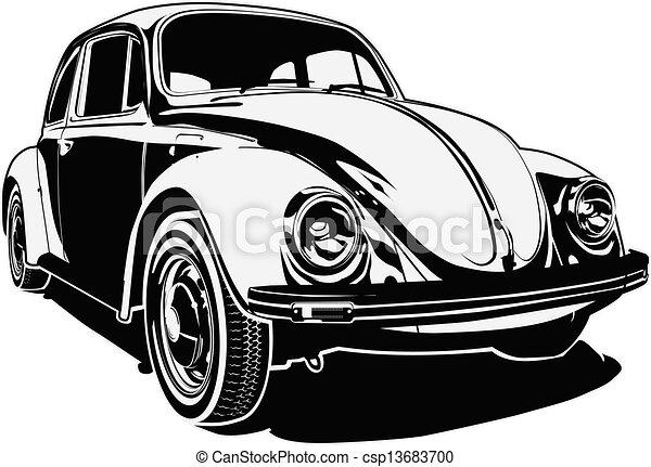 auto, retro - csp13683700