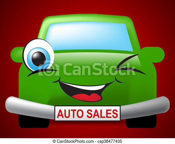 Auto Sales Represents Passenger Car And Marketing - csp38477435