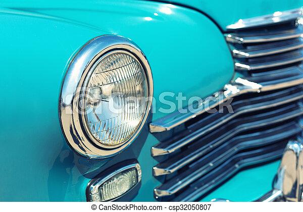 auto, scheinwerfer, retro - csp32050807