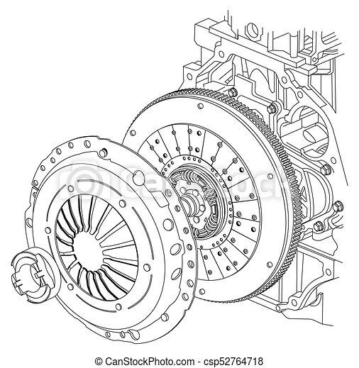 Auto, schema, kupplung. Auto, schema, abbildung, kupplung Clipart ...