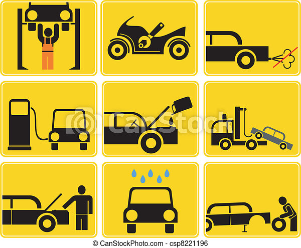 Auto Service - vector icons - csp8221196
