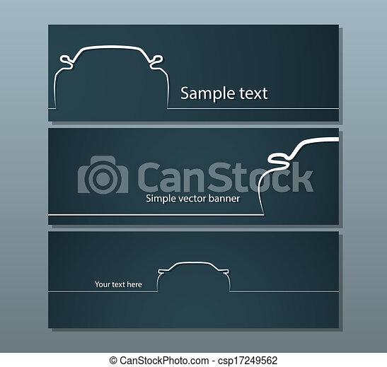 auto, silhouetten - csp17249562