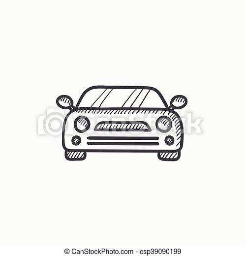 Auto, skizze, icon. Website, skizze, hintergrund.,... EPS Vektoren ...