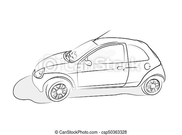 Nett Wie Man Auto Skizziert Fotos - Die Besten Elektrischen ...