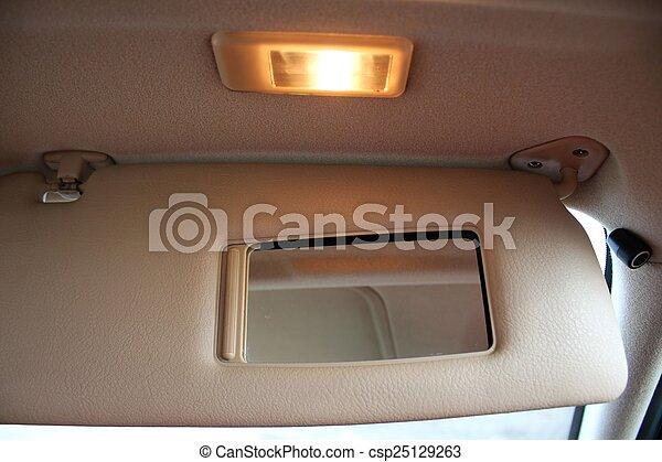 auto, sonne- schutz, maske licht - csp25129263