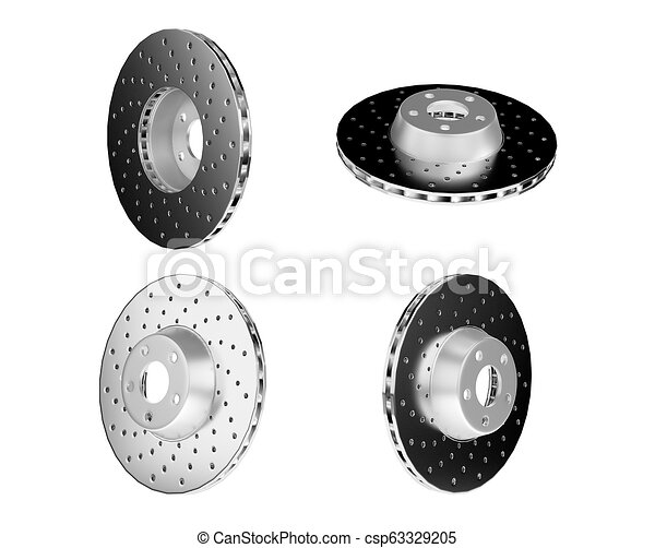 Car Brake Parts >> Auto Spare Parts For Car Brake Disks On White Background