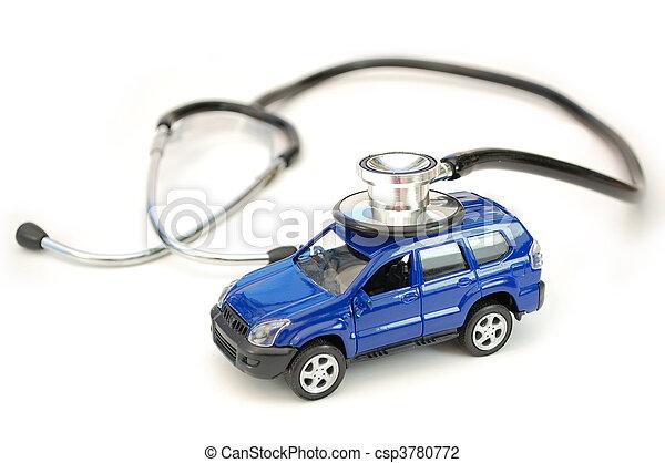 auto, stethoskop - csp3780772