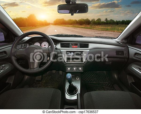 Im Auto - csp17636537