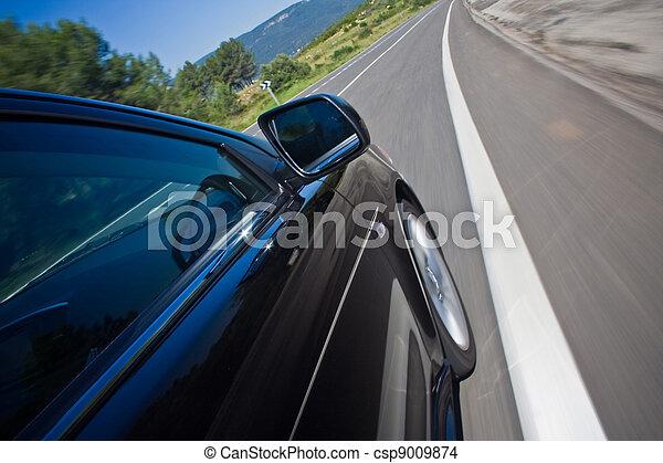auto, straat, vasten, geleider - csp9009874