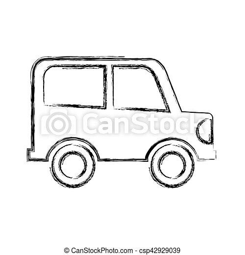 auto, tekening, vrijstaand, pictogram. auto, vrijstaand, illustratie