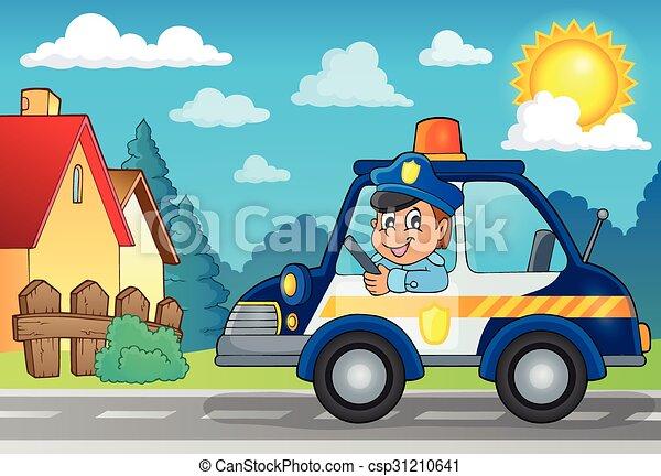 auto, thema, politie, beeld, 3 - csp31210641