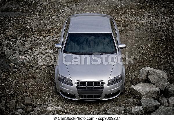 auto, top-front, ansicht - csp9009287