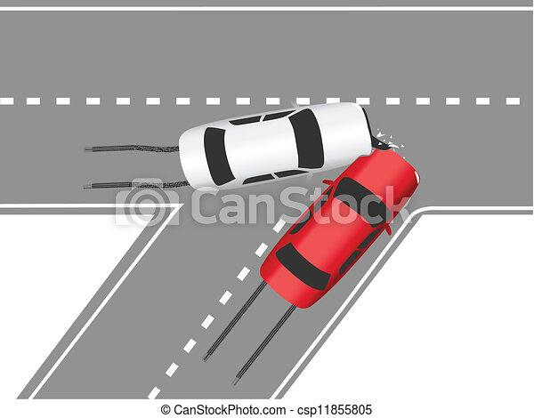 Auto traffic collision road cars - csp11855805
