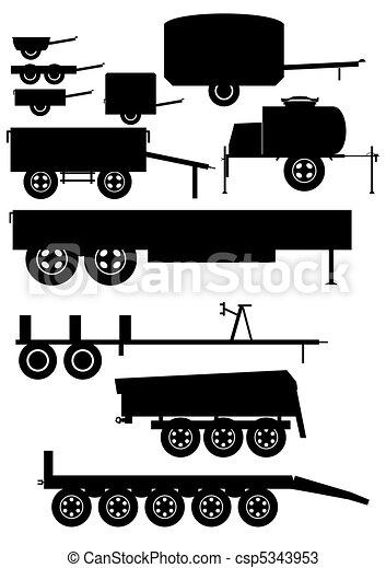 Auto trailer.  - csp5343953