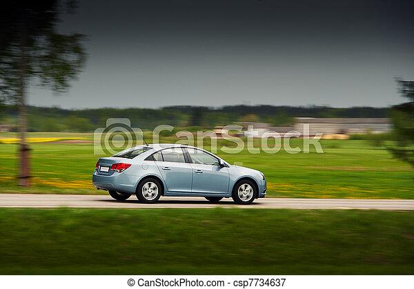 auto, treiben schnell - csp7734637
