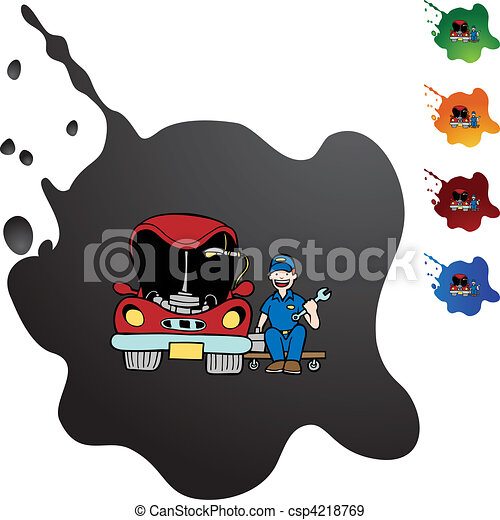 auto, vaststellen - csp4218769