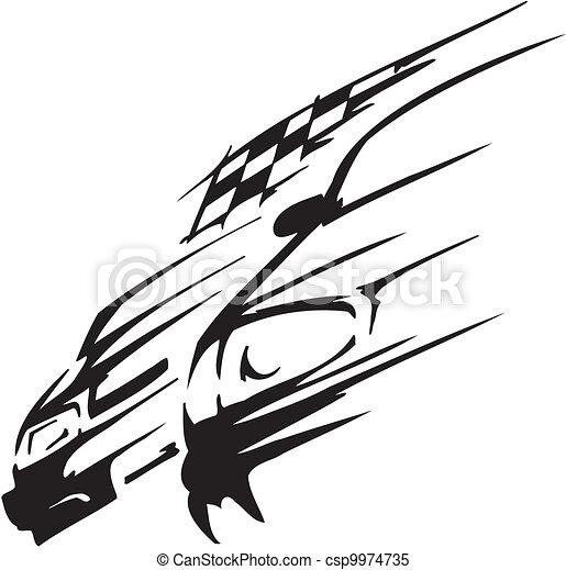 auto, vector, -, illustratie, hardloop - csp9974735