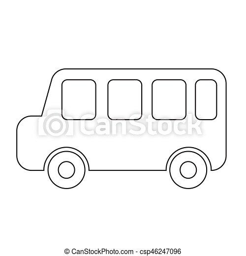 auto, vector, illustratie, pictogram - csp46247096
