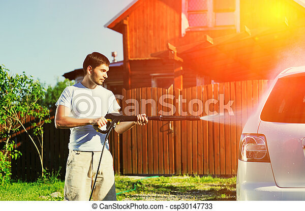 auto, wäsche - csp30147733