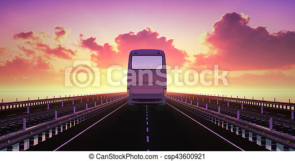 El autobús está en camino - csp43600921