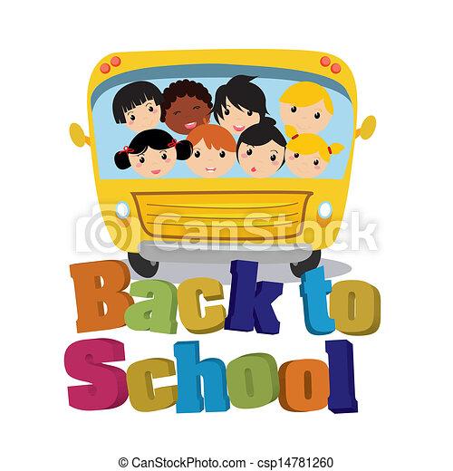 autobús, escuela - csp14781260