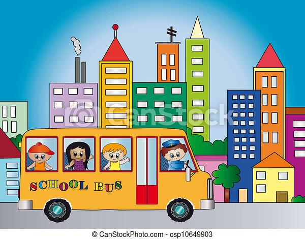 El autobús escolar - csp10649903