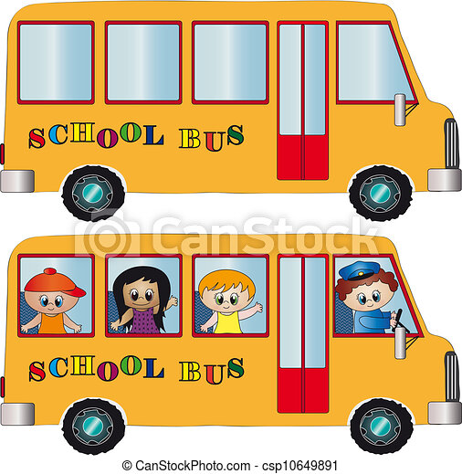 El autobús escolar - csp10649891